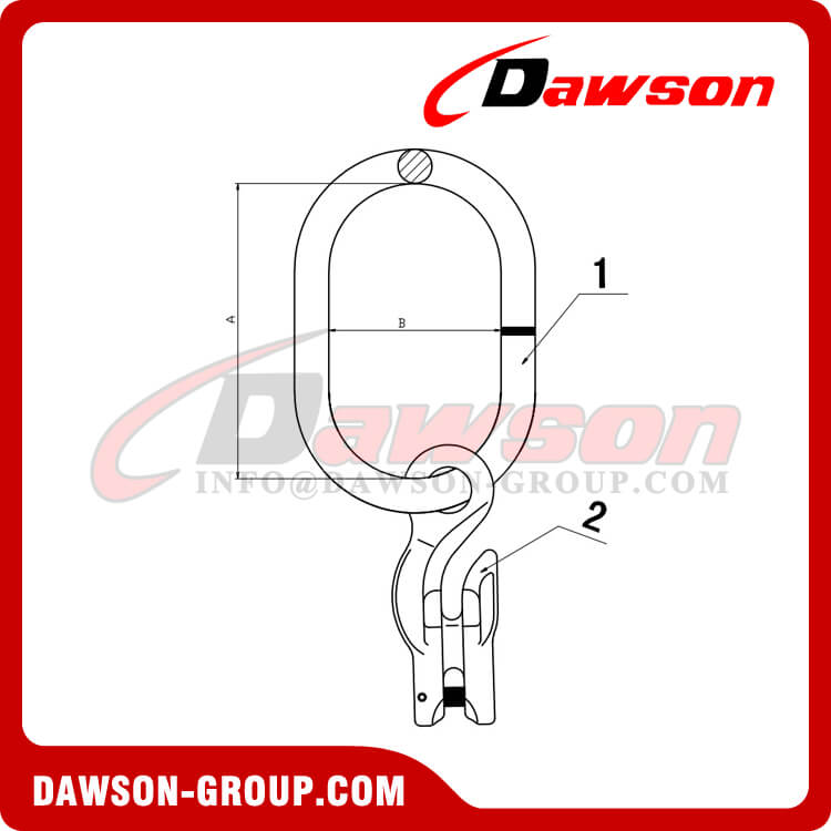 DS1073 G100 Master Link Assembly with Grab Hook - Dawson Group Ltd. - China Manufacturer, Supplier