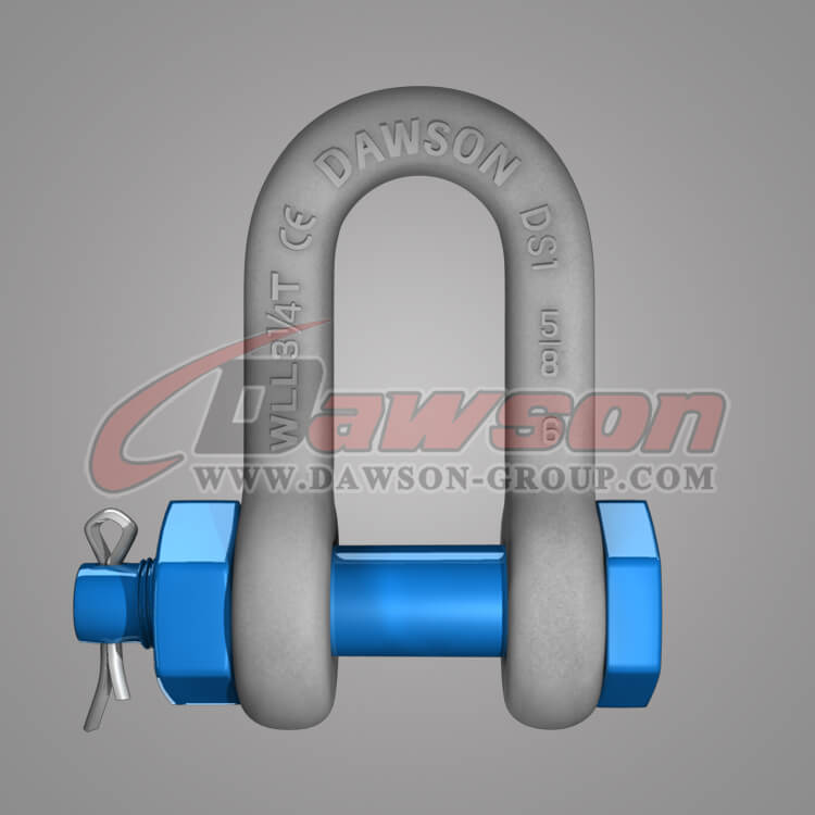 Dawson Brand Hot Dip Galvanized US Type Chain Shackle with Safety Pin - China Factory Exporter Supplier