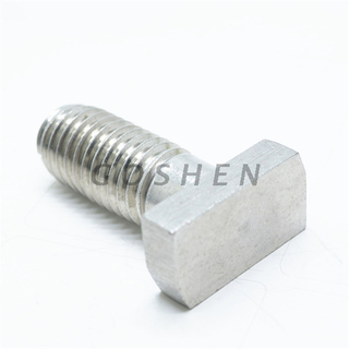 Stainless Steel 304 T Shape Thick Square Head Bolt with Slot