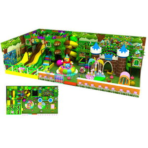 Jungle Theme Kids Soft Indoor Playground with Climbing Wall