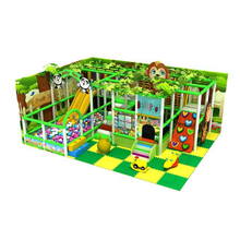 Jungle Theme Kids Mini Indoor Playground with Trampoline & Ball Pit