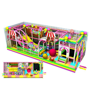 Candy Theme Park Kids Small Indoor Play Area for Kindergarten