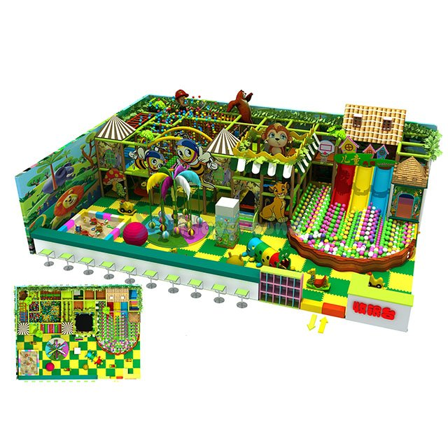 Jungle Theme Kids Indoor Amusement Park Playground Equipment