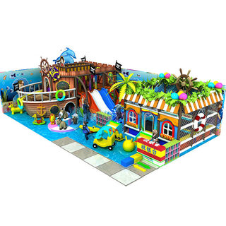 Pirate Ship Theme Children Amusement Park Commercial Soft Play Equipment
