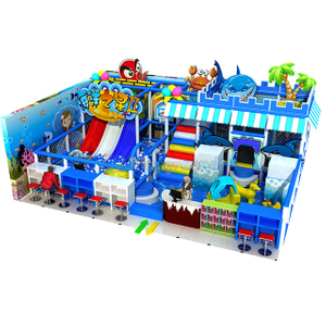 Ocean Theme Kids Soft Small Indoor Playground with Slide and Ball Pit