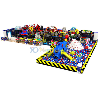 Space Themed Kids Soft Play Area Indoor Playground Set with Ball Pool