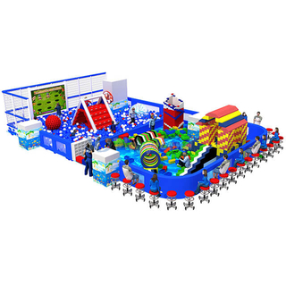 Ocean Theme Park Kids Soft Play Area Ball Pit and Building Blocks