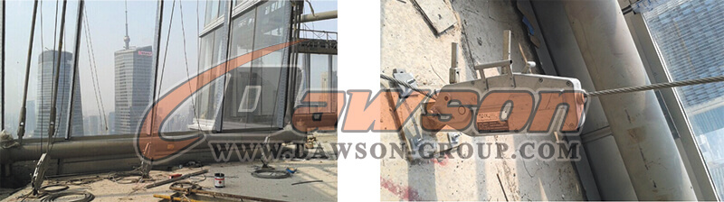 application of wire rope pulling hoist