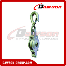 DS-B010 Malleable Iron Shell Block For Manila Rope Single Sheave With Loose Hook
