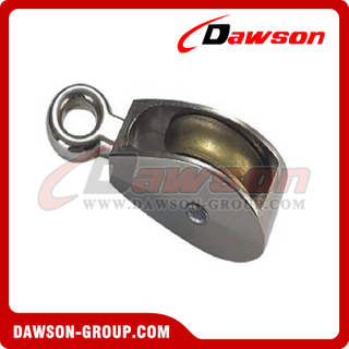 Die Cast Zinc Single Wheel Pulley with Fixed Eye