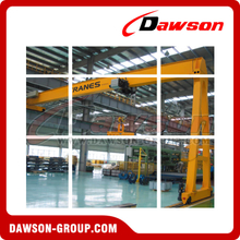 DIN/FEM Standard Electric Semi Gantry Crane For Lifting
