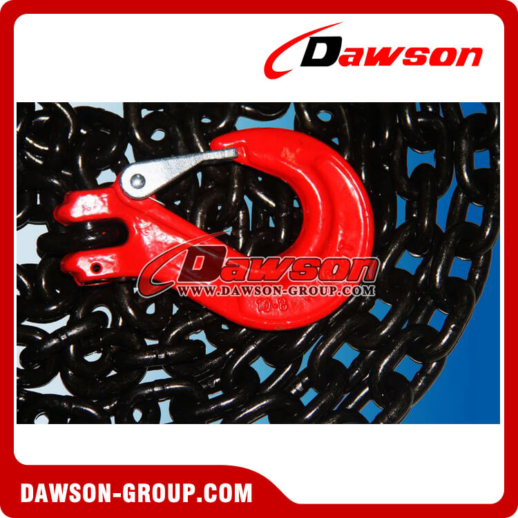 EN12195-3 G80 GRADE 80 RATCHET LOAD BINDER LASHING CHAIN WITH CLEVIS SLING HOOK WITH SAFETY LATCH DAWSON