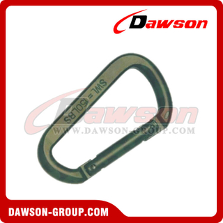 Aluminum D Type Snap Hook with Pin