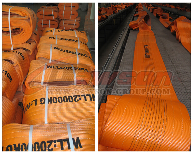 WLL 20 Ton Polyester Webbing Slings - Lifting Slings - Dawson Group Ltd. - China Manufacturer, Supplier, Factory