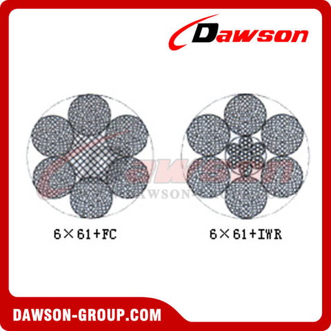 Steel Wire Rope Construction(6×61+FC)(6×61+IWR)