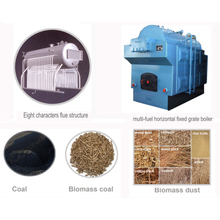 Industrial Biomass Fired Vertical Fixed Grate Steam Boiler