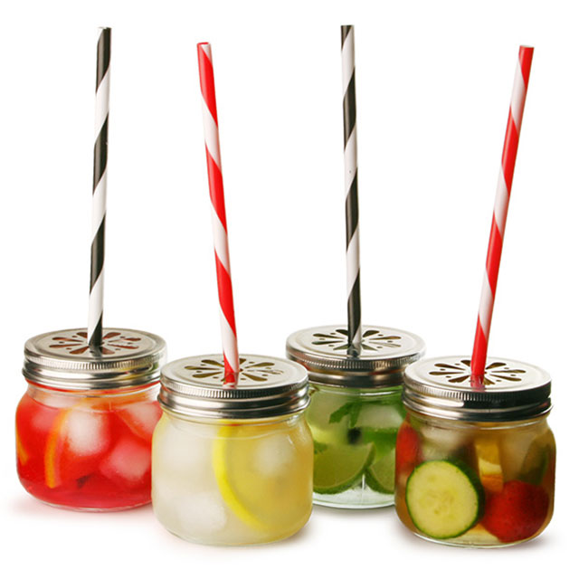 Drinking Jar with Straw