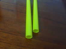 Yellow color plastic tube
