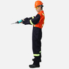 One Piece BICOLOR 270 Grams Cotton Waterproof High Visibility Reflective Safety Coverall Workwear