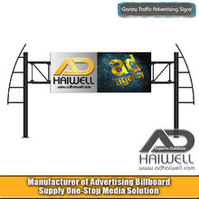 Spanning Road Gantry Billboard Sign Structure
