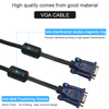 Black Nickel Plated VGA Cable Male to Female