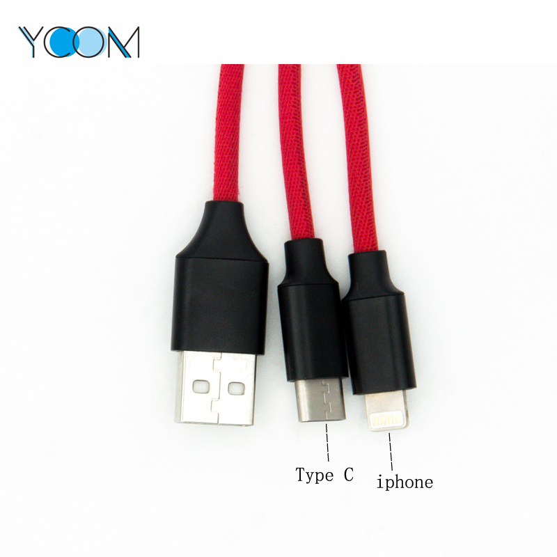 Cable Lightning USB 2 en 1 para Tipo C y iPhone