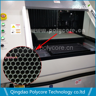 PC honeycomb sheet bilang honeycomb plate para sa Laser Cutting Machine