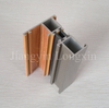 Thermal Break Aluminum casement window frame with grey powder coating and wooden print
