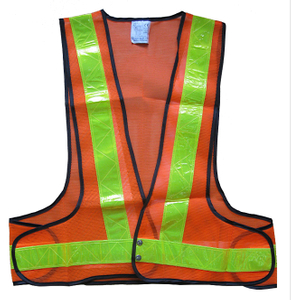 Good quality high visilibity mesh reflective vest for workers