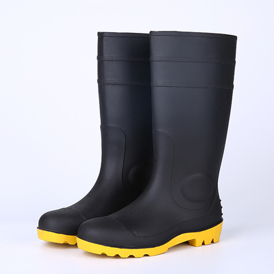 Steel toe safety rain boots