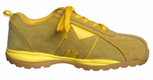 Yellow Steel toe Athletic Sporty Running Shoes