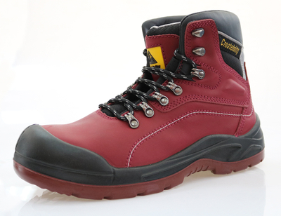 Cow split nubuck leather work safety boots shoes