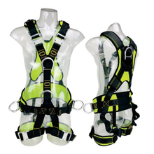 Aluminum automatic buckles polyester webbing CE full body harness anti-falling safety harness