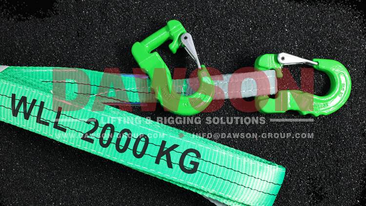 G100 Grade 100 Web Sling Hook, 2 Ton Synthetic Alloy Round Sling Hook - Dawson Group Ltd. - China Manufacturer