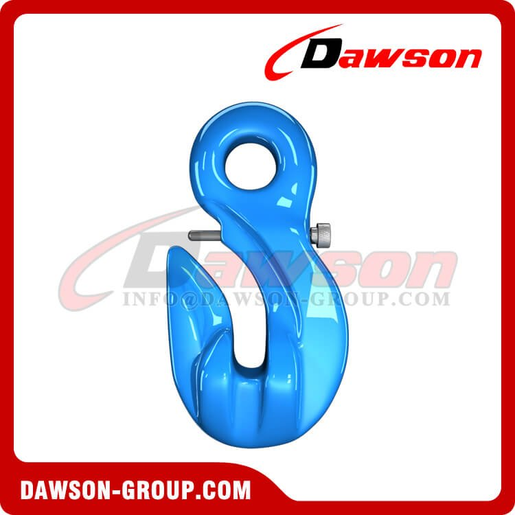G100 Special Eye Grab Hook with Safety Pin, Forged Alloy Steel Eye Grab Hook for Adjust Chain Length - China Manufacturer, Supplier