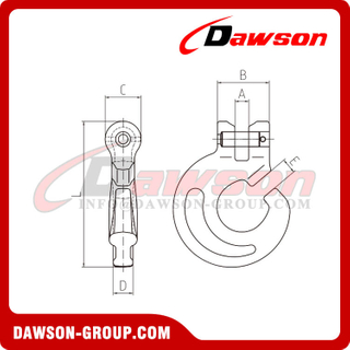 DS913 G80 Clevis C Hook for Logging
