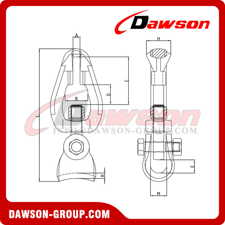 DS1059 G100 Swivel Connectors for Forestry Logging, Grade 100 Swivel Chain Connector for lashing - Dawson Group Ltd. - China Manufacturer