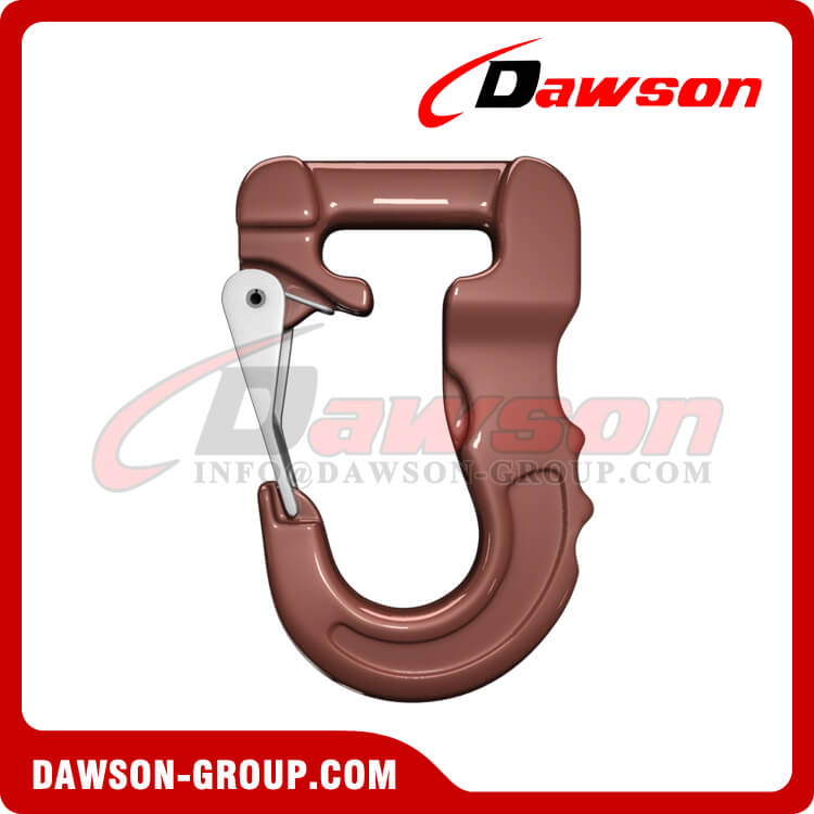 Grade 100 Web Sling Hook, G100 Synthetic Alloy Round Sling Hook 6T - Dawson Group Ltd. - China Factory
