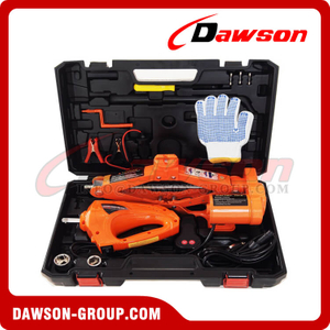 DC 12V 2T or 3T 35CM Electric Scissor Jack & Portable Electric Wrench Suit