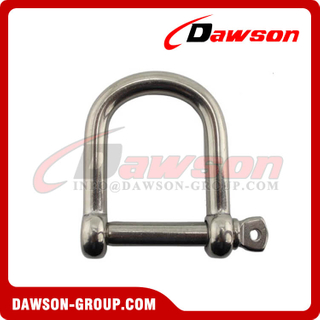 Stainless Steel Wide D Screw Pin Shackle
