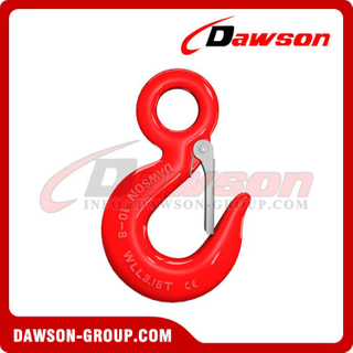 DS039 G80 Eye Sling Hook with Latch for Lifting Chain