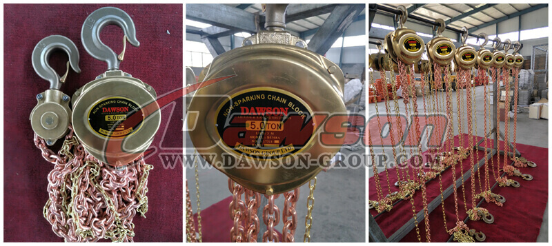 DS308A 5T Non-Sparking Chain Hoist - China Supplier