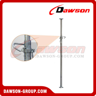 1600-5000mm shoring props jack, adjustable steel pipe support