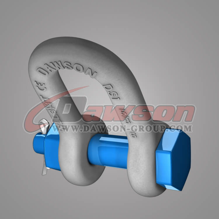 Dawson Brand Hot Dip Galvanized US Type Chain Shackle with Safety Pin - China Manufacturer Supplier, Exporter