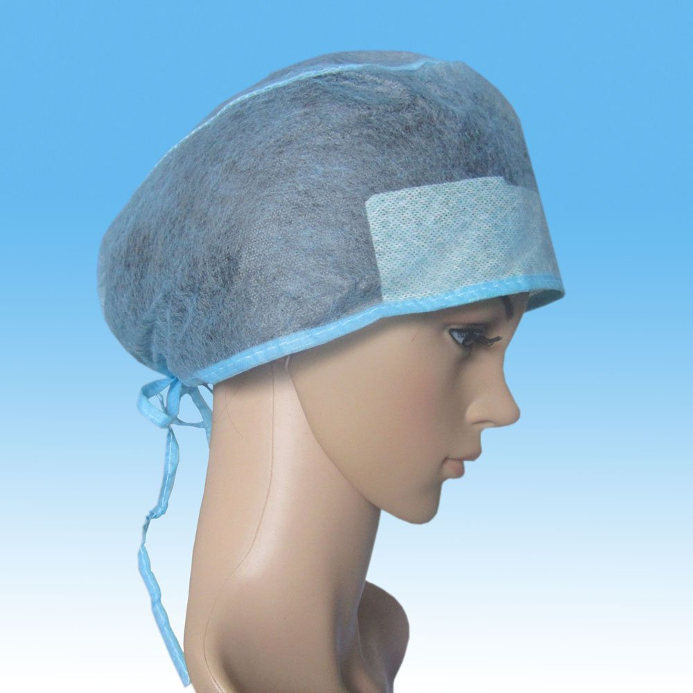 Disposable Soft Spunlace Doctor Cap,Spunlace Doctor Cap with Elastic Band