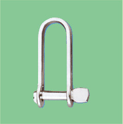 S/S STAMP HALYARD SHACKLE WITH SINGLE PIN