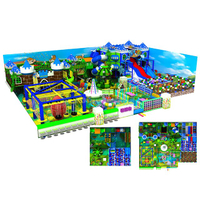 Castle Style Kids Soft Indoor Playground Equipment with Big Slide