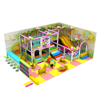 Candy Style Kids Small Wonder Indoor Playground with Trampoline