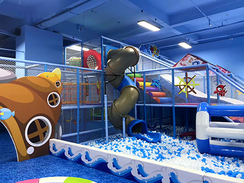Corner of Ocean theme indoor playground