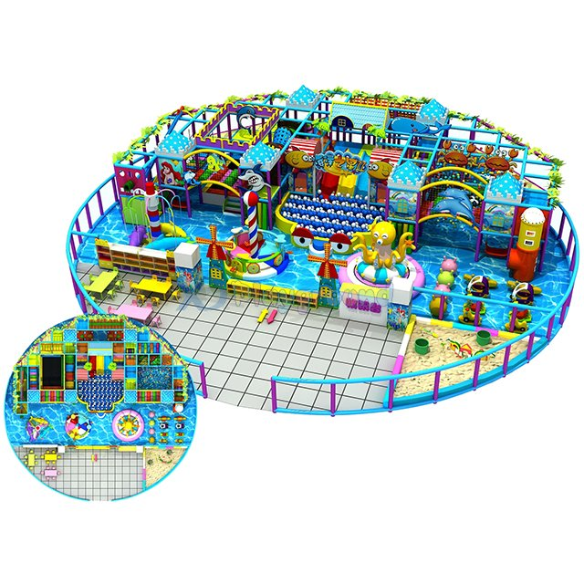 Customized Ocean Themed Children Soft Amusement Park Indoor Playground